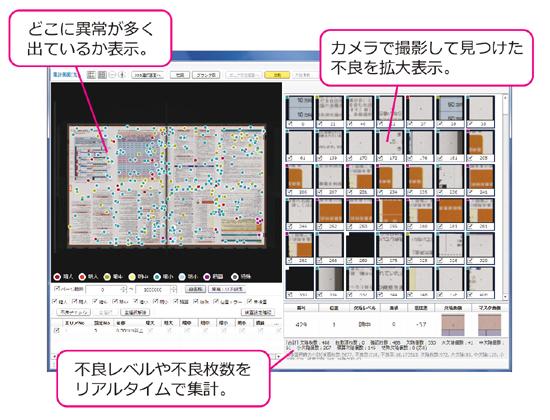 印刷品質検査の画面サンプル