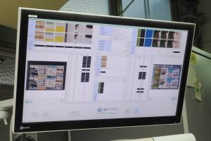 印刷品質検査装置画面